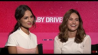 Lily James & Eiza Gonzalez Talk BABY DRIVER | Exclusive Interview
