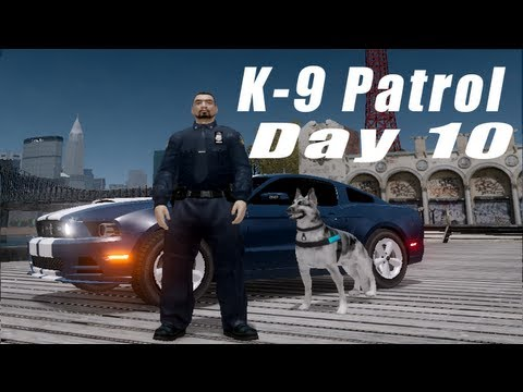 GTA IV: LCPDFR 0.95 RC2 K-9 Patrol Day 10- PCJ Pursuit