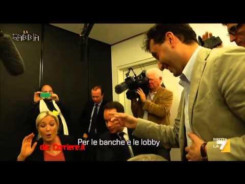David Parenzo parla con Marine Le Pen  Ebrei, Banche e Finanza