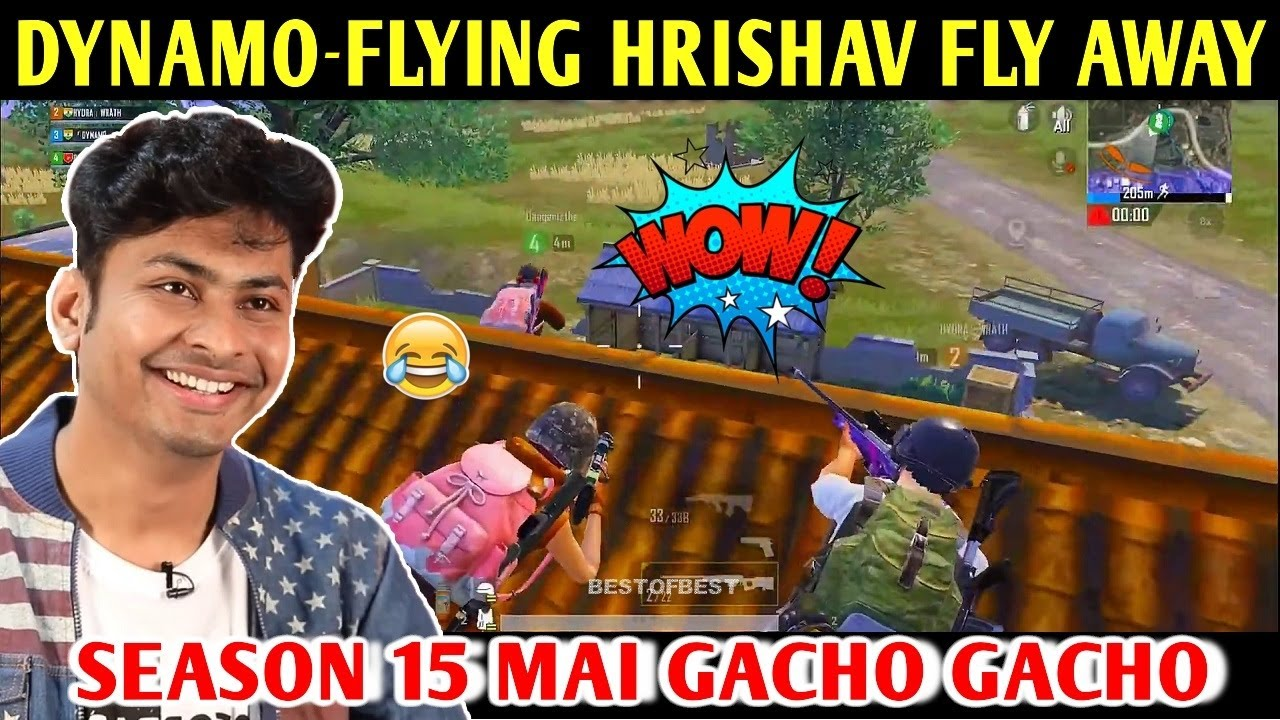 DYNAMO - FLYING HRISHAV FLY AWAY | PUBG MOBILE | BEST OF BEST