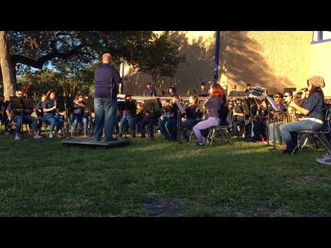 Connally Middle School 10/23/17 Beginning Band playing the Fab Five (1)