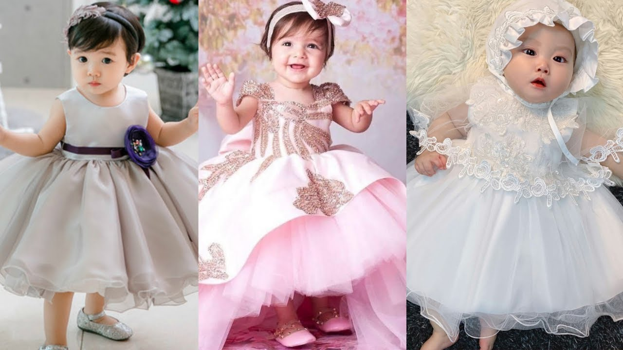 Birthday dress ideas for 8 year baby girl//Party Wear Dresses for  Kids//First birthday party dress