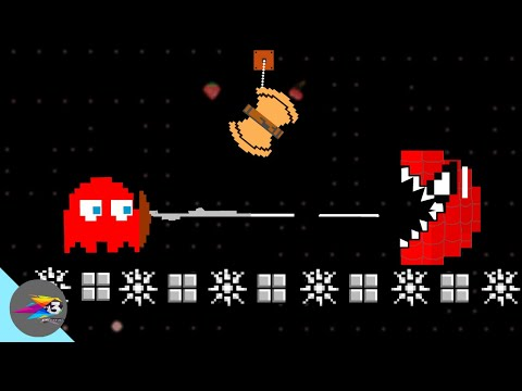 Red Monster Pacman Spider Vs Pacman Ghosts Face-Off Part 3