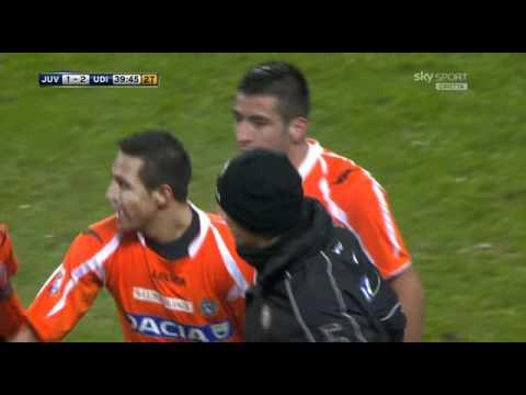 Juventus 1 - 2 Udinese - Golazo Alexis Sánchez - 30/01/2011 | Semana 22