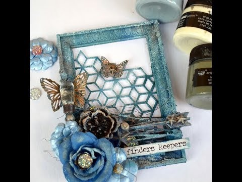 Frame with Texture paste Prima-Finnabair products