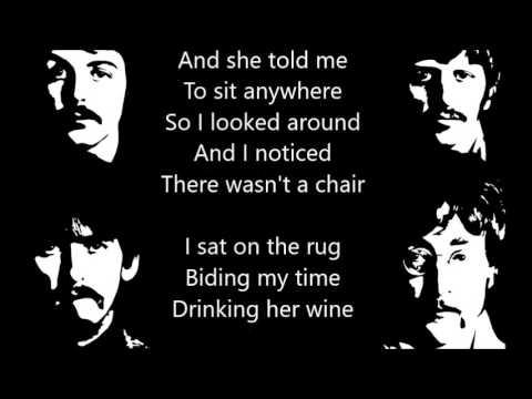 The Beatles - Norwegian Wood (drum + bass track with lyrics)