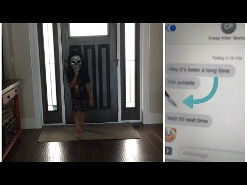Creepy Killer Skeleton text's me and comes inside my house!