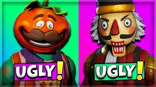 10 UGLIEST SKINS IN FORTNITE! (Fortnite Battle Royale)