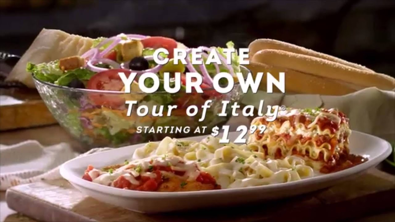 OLIVEGARDEN TOUR OF ITALY - YouTube