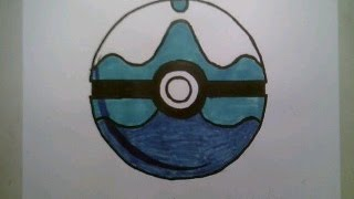 How To Draw Pokemon Dive Ball Pokeball Go 3D Easy Step By Tutorial Iphone Game