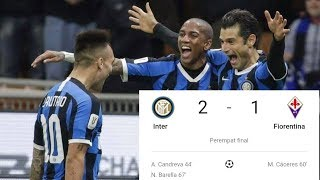 Inter vs fiorentina 2 1 all goals and schedule gol dan jadwal piala italia tadi malam