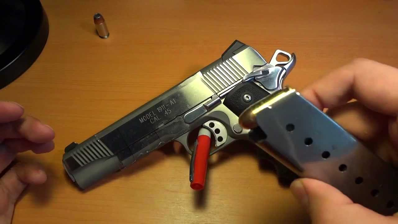 Dropping the slide on an empty chamber 1911