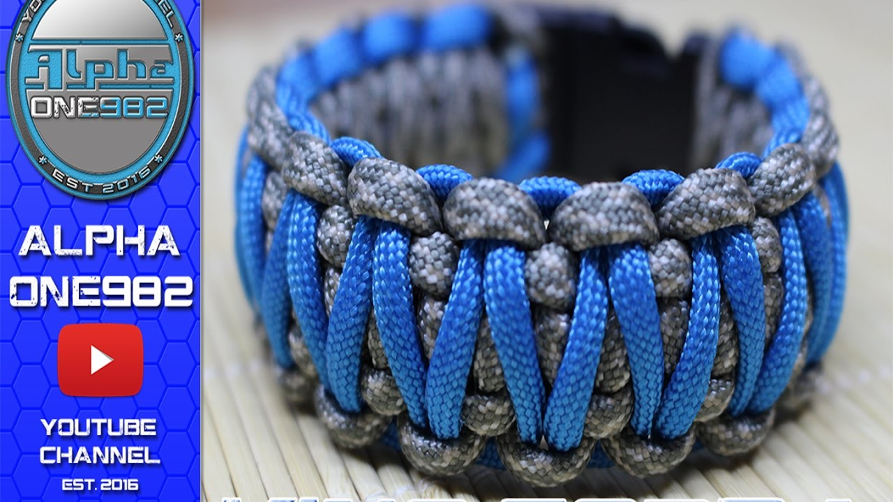 How To Make Paracord Bracelet King Cobra Urban Youtube