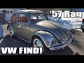 Classic VW BuGs 1957 Oval Ragtop Beetle Resto Find Tow Bar Hook up