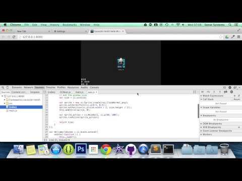 Cocos2d-JS v3 Tutorial 9 - Positioning Using MoveBy