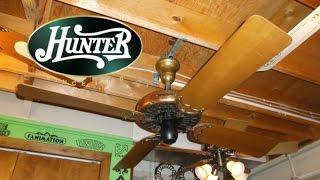 Hunter Fan & Motor Co. Type 52 Antique Ceiling Fan