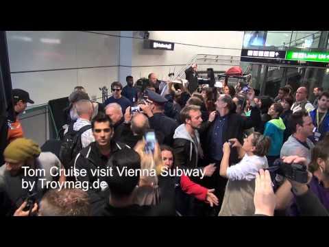 Tom Cruise visit Vienna Subway