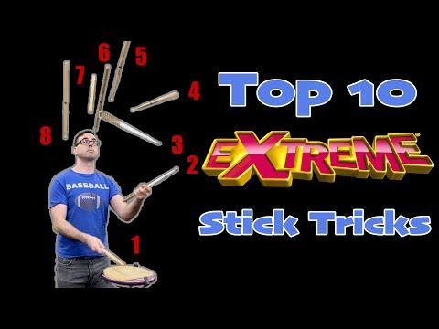 Top 10 EXTREME Stick Tricks    EMC Stick Trick Tutorial 3