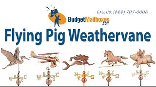 Budgetmailboxes.com | Good Directions 9612p Flying Pig Weathervane - Polished Copper