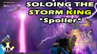*Spoiler* Fortnite Storm King Solo Win - The Amazing End in Canny Valley
