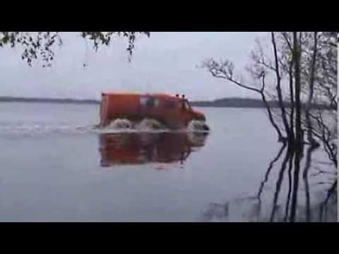 Снегоболотоходы на колесах сверхнизкого давления: видео