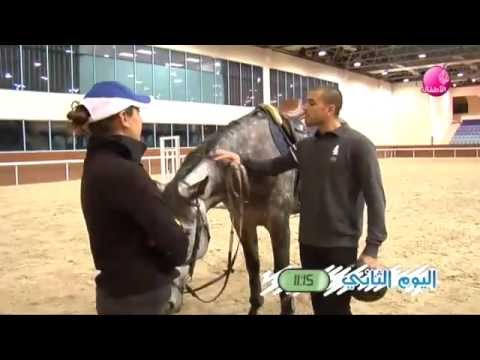 Talented arabic tv presenter sport program Equestrian-قناة الجزيرة-الفروسية