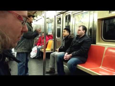 Psychotic Panhandler Woman Engages in Dispute on NYC Subway