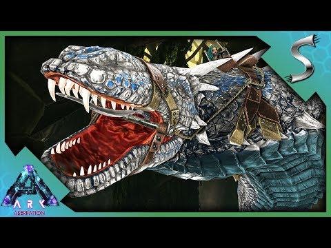 SURPRISE ATTACK! MAX LEVEL BASILISK TAMING! - Ark: Aberration [DLC Gameplay E28]