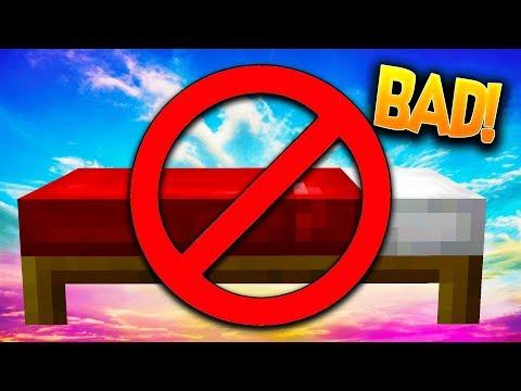 WORLDS WORST BED DEFENSE!! Minecraft - BEDWARS with WallStreet!
