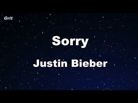 Sorry - Justin Bieber Karaoke 【With Guide Melody】 Instrumental