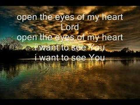 Lirik Lagu Open The Eyes Of My Heart