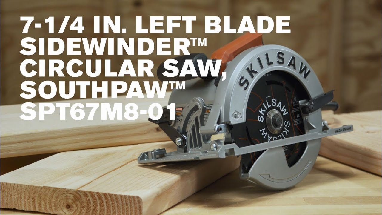 New 7 14 in left blade sidewinder circular saw southpaw youtube new 7 14 in left blade sidewinder circular saw southpaw greentooth Choice Image