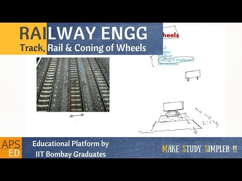 Track, Rail and Coning of Wheels | Railway Engineering