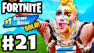 MY FIRST SOLO #1 VICTORY ROYALE! - Fortnite - Gameplay Part 21