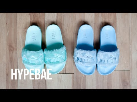 GUESS slides with fur unboxing PUMA FENTY BY RHANNA SLIDES