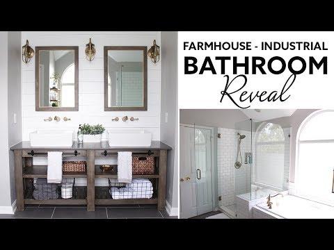 Farmhouse | Industrial Master Bathroom Reveal - (Husband- Voiceover)