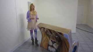 Books about Town - Narnia The Lion the Witch and the Wardrobe Book Bench by Mandii Pope