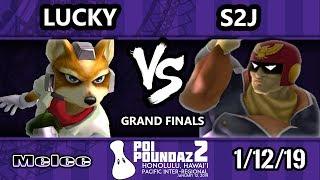 Poi Poundaz 2 - DIG   Lucky (Fox) Vs. S2J (Captain Falcon) SSBM Singles Grand Finals
