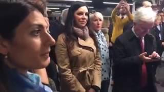 Virginia Raggi e Linda Meleo presentano in anteprima la Metro C San Giovanni