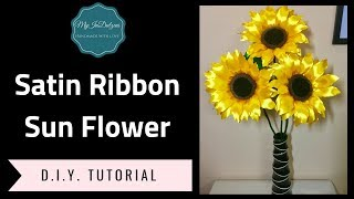 New Tutorial. Learn how to make this big beautiful Satin Ribbon Sun...