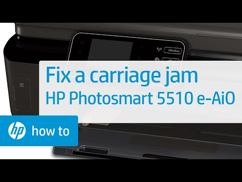 Fixing a Carriage Jam - HP Photosmart 5510 e-All-in-One Printer (B111a)