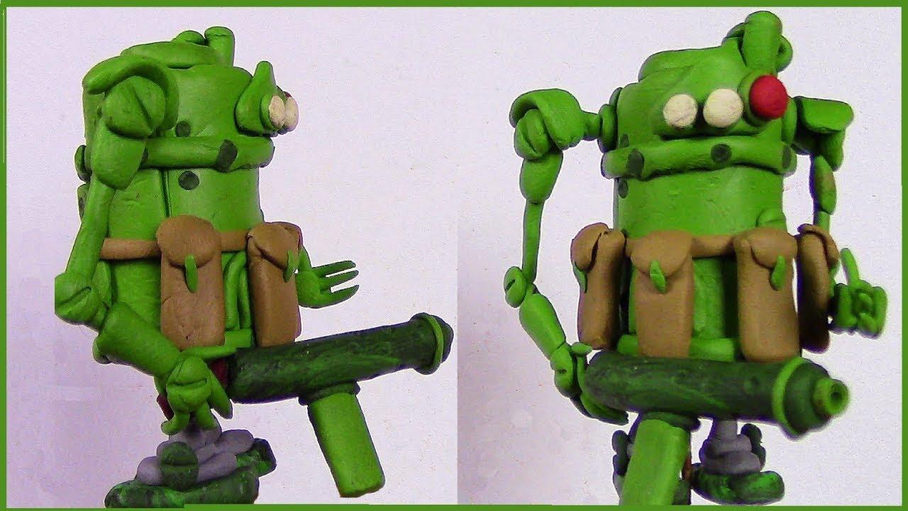 клыки, картинки про роботов из пластилина прогадала