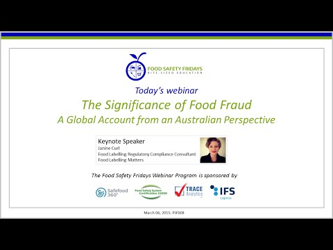 The Significance of Food Fraud: A Global Account from an Australian Perspective