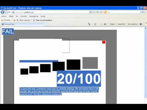 Browser Acid Test - IE8 FF4 Opera 11