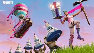 Fortnite's 1st Birthday Celebration: How To Get A Free Birthday Cake Back Bling and Spray Paint!
