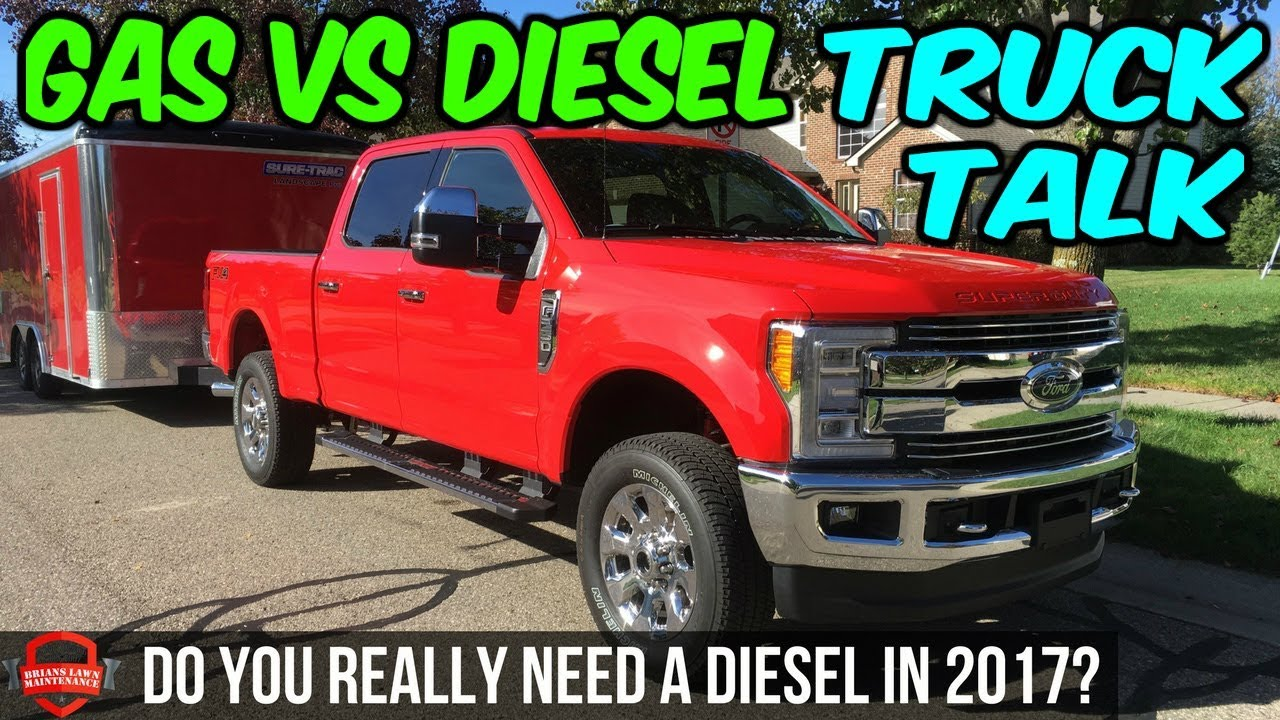 gas vs diesel do you really need a diesel in 2017 truck talk tuesday episode 1 youtube. Black Bedroom Furniture Sets. Home Design Ideas
