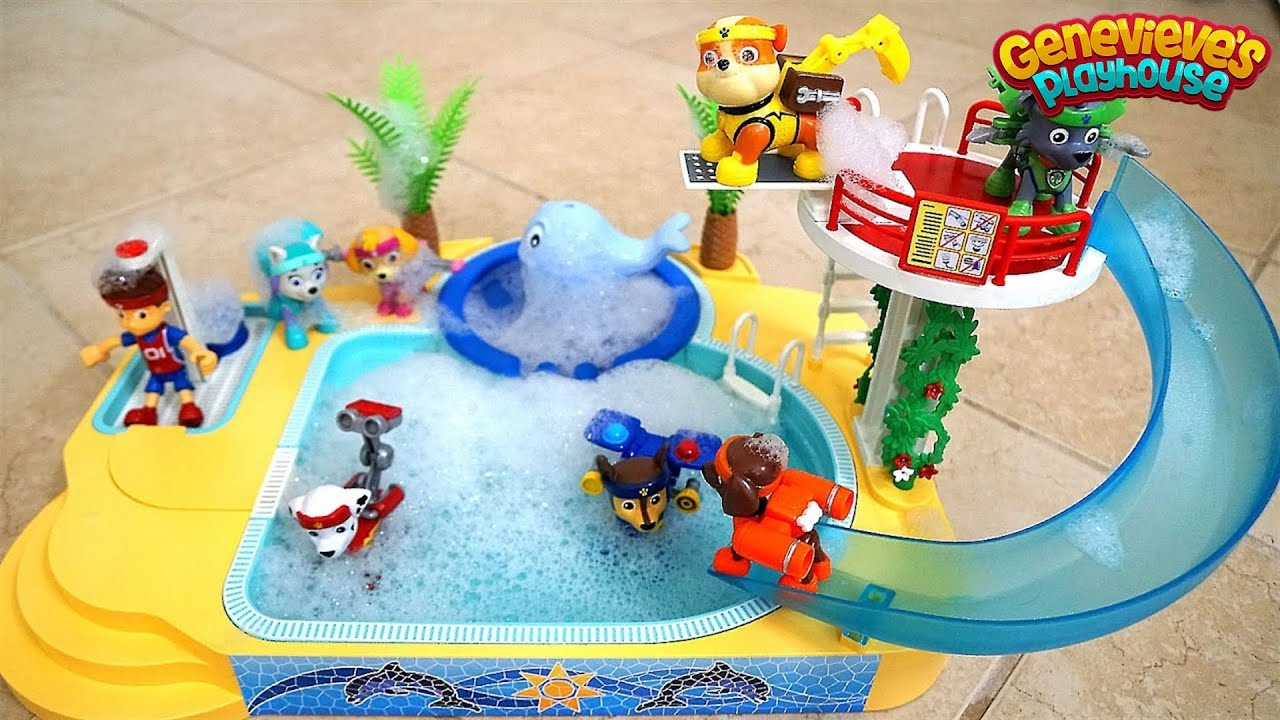 Paw Patrol Pool Time Bubble Bath With Genevieve Youtube