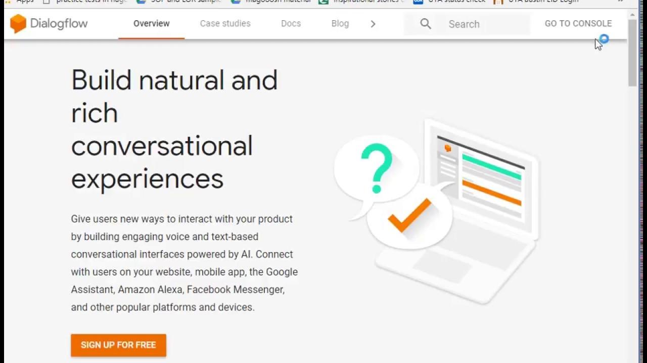 integrate dialogflow(api ai) chatbot agent with webpages/websites