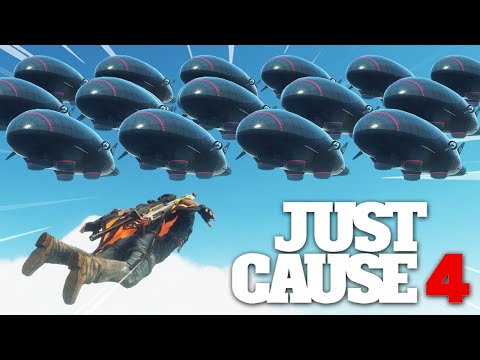 Just Cause 4 - BREAKING THE GAME WITH 100+ AIRSHIPS! |