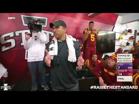 Matt Campbell (Iowa State Head Football Coach) on team above self & falling in love with the process